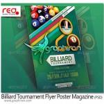 Billiard Tournament Flyer Poster Magazine Template 150x150 دانلود فونت جام باشگاه های اروپا Champions League