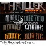 دانلود استایل های هیجان انگیز فتوشاپ Thriller Photoshop Style