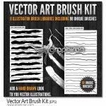 Vector Art Brush Kit 150x150 ۲۵۰ براش ماژیک برای ایلوستریتور Real Markers For Illustrator