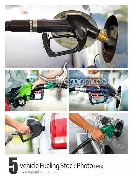 عکس شاتر استوک ماشین در حال بنزین زدن