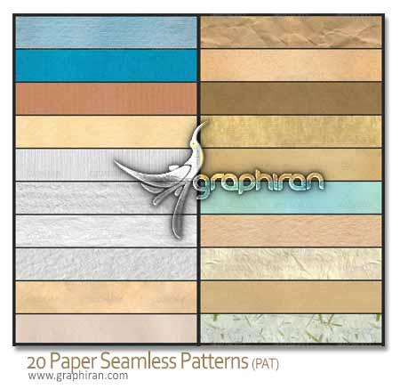 دانلود ۲۰ پترن فتوشاپ و تکسچر کاغذ Paper Patterns