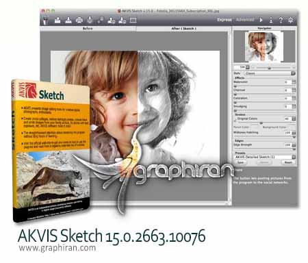 دانلود AKVIS Sketch 15.0 بهترین پلاگین فتوشاپ تبدیل عکس به نقاشی