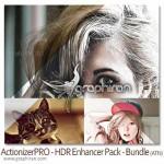 دانلود پک اکشن های جدید و حرفه ای فتوشاپ HDR Enhancer Pack