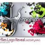 Butterflies Logo Reveal 150x150 پروژه افتر افکت لوگو ذرات درخشان Glowing Particles Logo Reveal