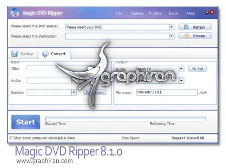 نرم افزار تبدیل دی وی دی Magic DVD Ripper 8.1.0