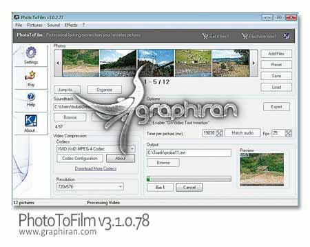 نرم افزار تبدیل عکس به فیلم
