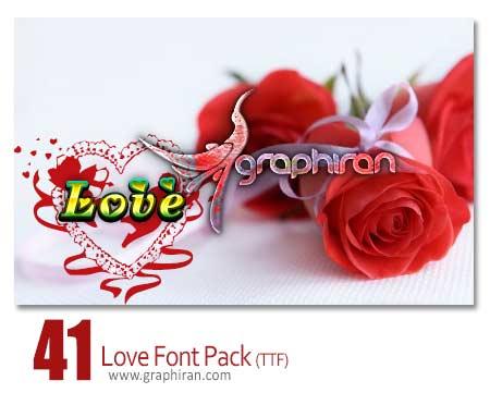 دانلود مجموعه ۴۱ فونت سمبل های عاشقانه و رمانتیک