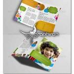 دانلود نمونه بروشور لایه باز موضوع کودک با دو لت سایز A4