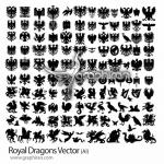 دانلود مجموعه تصاویر وکتور انواع اژدها و حیوانات افسانه ای