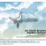 دانلود ۱۳ براش ابر فتوشاپ جدید High Resolution Clouds Brush