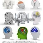 دانلود تصاویر استوک سر انسان به صورت سه بعدی با موضوع تفکر