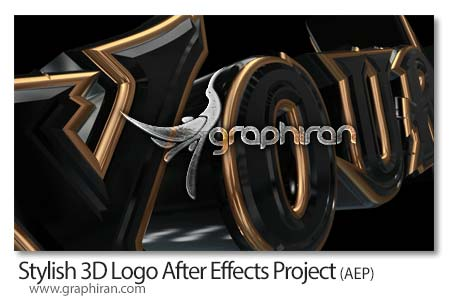 پروژه افتر افکت نمایش 3 بعدی لوگو و نوشته