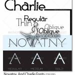 دانلود فونت های خلاقانه و جالب انگلیسی Charlie و Novatny