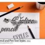 دانلود استایل های جدید مداد و خودکار فتوشاپ Pencil & Pen Styles