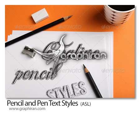 استایل مداد و خودکار فتوشاپ