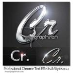 دانلود استایل های متن کروم فتوشاپ Professional Chrome Styles