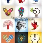 دانلود مجموعه طرح های وکتور لوگو خلاقانه از ShutterStock