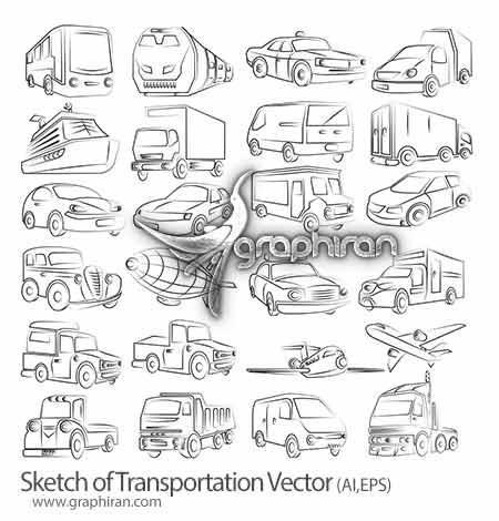 طرح وکتورهای خطی از وسایل نقلیه