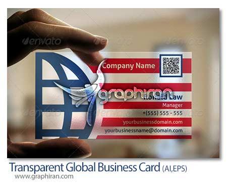 Transparent Business Card دانلود طرح لایه باز کارت ویزیت شیشه ای ترنسپرنت   شماره 173