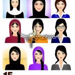 دانلود وکتورهای گرافیکی شخصیت های زن در شغل های مختلف