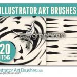 دانلود براش های هنری ایلوستریتور Illustrator Art Brushes