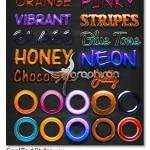 دانلود ۱۰ استایل زیبا و جذاب فتوشاپ Cool Text Styles