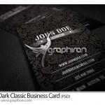 دانلود کارت ویزیت کلاسیک مشکی رنگ مناسب انواع مشاغل – شماره ۱۷۴