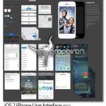 دانلود طرح PSD لایه باز رابط کاربری iOS 7 گوشی آیفون