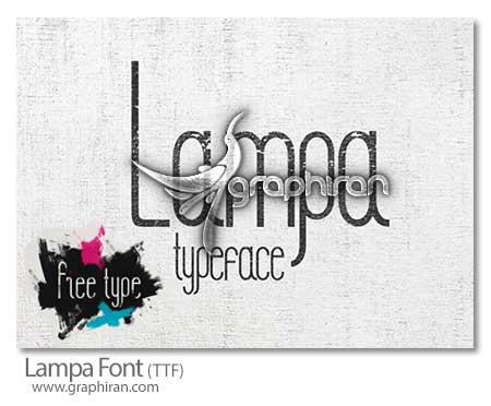 فونت انگلیسی Lampa
