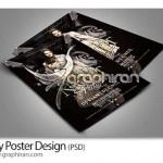 دانلود فایل PSD لایه باز پوستر گرافیکی با طراحی حرفه ای
