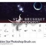 دانلود ۲۰ براش ستاره با کیفیت و زیبا فتوشاپ Photoshop Star Brush