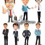 دانلود وکتور کاراکترهای مرد تجاری Businessman Vector Character