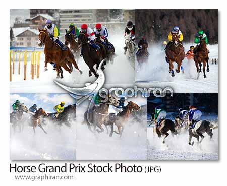 تصاویر استوک مسابقات اسب دوانی و اسب سواری