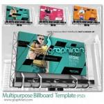 دانلود قالب لایه باز بیلبورد تبلیغاتی Billboard PSD Template