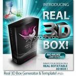 ابزار فتوشاپ ساخت جعبه ۳ بعدی و واقعی Real 3D Box Generator