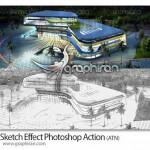 دانلود اکشن تبدیل عکس به طرح اولیه Sketch Effect Action