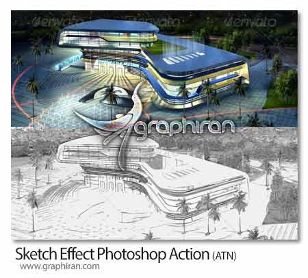 اکشن فتوشاپ ساخت افکت طراحی سیاه و سفید برای عکس