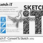 دانلود اکشن تبدیل فونت و شکل به طرح اولیه با مداد Sketch iT
