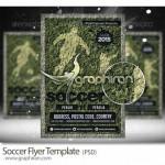 دانلود قالب لایه باز پوستر فوتبالی جدید Soccer PSD Poster