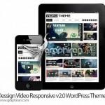 دانلود قالب وردپرس سایت نمایش ویدئو Video Responsive v2.0
