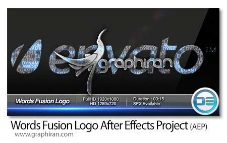پروژه جدید افتر افکت Word Fusion Logo