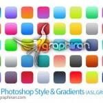 دانلود مجموعه استایل و گرادینت آیکون های iOS 7 برای فتوشاپ