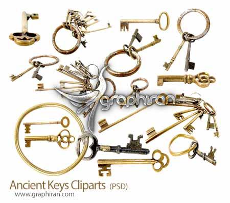 تصاویر کلیپ آرت کلیدهای قدیمی