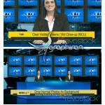 پروژه افتر افکت استودیو مجازی اخبار تلویزیونی با چند صفحه نمایش
