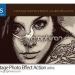 اکشن فتوشاپ ساخت افکت عکس قدیمی ویژه Vintage Photo Effect