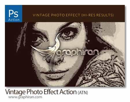 اکشن فتوشاپ طراحی افکت عکس قدیمی