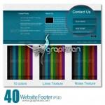 دانلود طرح آماده و لایه باز فوتر سایت Website Footer PSD