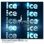 10 Ice and Frozen Effects 150x150 استایل یخ برای ایلوستریتور Ice Illustrator Graphic Style