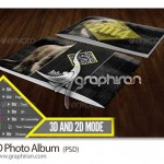 دانلود قالب لایه باز آلبوم عکس ۳ بعدی زیبا ۳D Photo Album PSD
