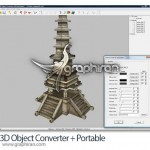 برنامه تبدیل فرمت های سه بعدی ۳D Object Converter 5.30 + Portable